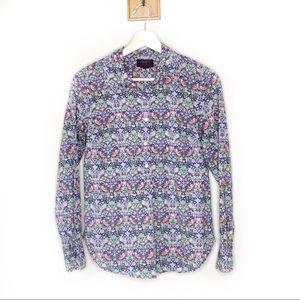 J. Crew Liberty Arts Fabric floral button up shirt